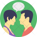 Couple Communicating Communication Icon