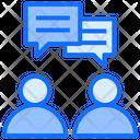 Couple Conversation Communication Chat Icon