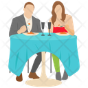 Couple Dinner Picnic Outdoor Dinner Icon