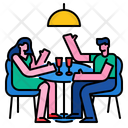 Couple Dinner Icon