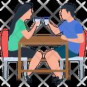 Couple Drinking Tea Tea Time Tea Party Icon