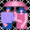 Umbrella Heart Rain Icon
