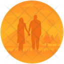 Couple In Sunset Icon