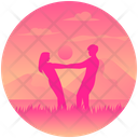 Landscape Couple Couple In Sunset Sunset Honeymoon Icon
