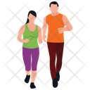 Physical Exercise Couple Jogging Fitness Exercise Icon