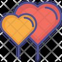 Couple Of Heart Balloons Icon