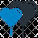 Couple Of Heart Balloons Heart Heart Balloon Icon