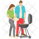 Couple On Picnic Icon