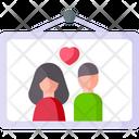 Couple Photo Hanging Photo Photo Icon
