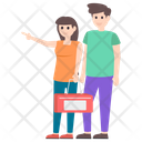 Couple Picnic Married Couple Outdoor Activity Icon