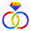 Couple rings Icon