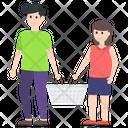 Couple Shopping Icon