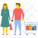 Couple Shopping Icon