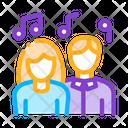 Couple Singing Icon