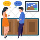 Discussion Couple Gossips Consultation Icon