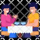 Couple Spouse Couple Tea Time Icon