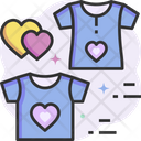 Couple Tshirt Valentine Tshirt Valentine Cloth Icon