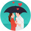 Couple Under Umbrella Icon