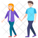 Couple Walking Together Husband And Wife Spouse Icon
