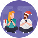 Couples Couples Coffee Tea Time Icon