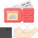 Coupon Card Hand Icon
