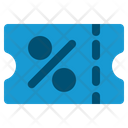 Coupon Ticket Sale Icon
