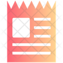 Coupon Voucher Recipe Icon
