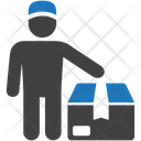 Courier Delivery Man Icon
