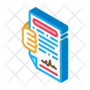 Agreement Check Courier Icon