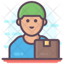 Courier Boy Delivery Man Delivery Person Icon