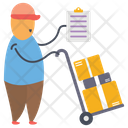 Logistics Delivery Man Delivery Services Icon