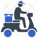 Boy Courier Delivery Icon