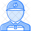 Courier Boy Box Icon