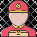 Courier Box Shipping Icon