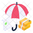 Parcel Insurance Logistic Insurance Insured Package Icon