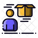 Courier Worker Package Icon