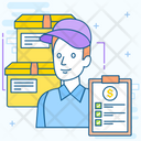 Cargo Management Courier Services Loader Man Icon