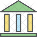 Court Bilding Bank Icon