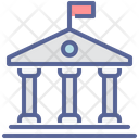 Courthouse Building Judicial Icon