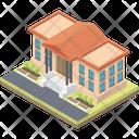 Court Architecture Building Legal Building Icon