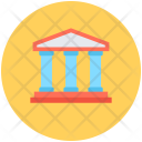 Court Building Bank Icon