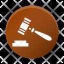 Court Gavel Hammer Icon