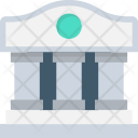 Bank Building Court Icon