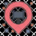 Court Location Location Map Icon
