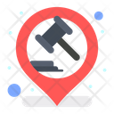 Court Location Hammer Justice Icon