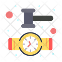 Court Time Clock Watch Icon