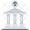 Courthouse Building Scales Icon