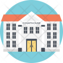 Courthouse Law Place Icon