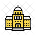 Courthouse Building Color Icon