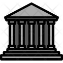 Line Outline Courthouse Icon